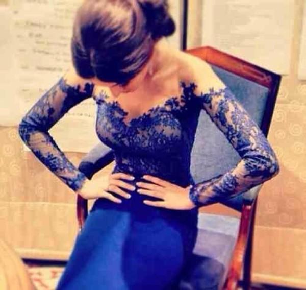 dress blue dress off the shoulder