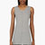 nicolas andreas taralis heather grey raw edge tank top