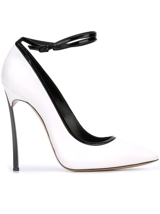 ankle strap pumps white shoes