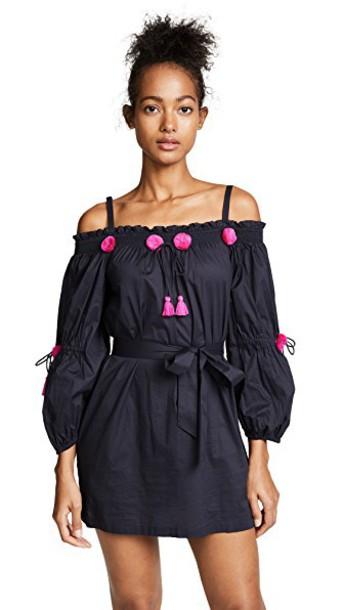 Figue dress navy pink