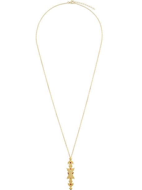Charlotte Valkeniers women necklace pendant gold silver grey metallic jewels