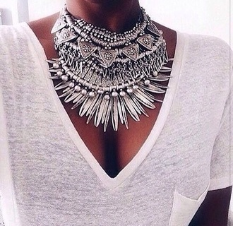 hair accessory jewels necklace statement necklace blouse