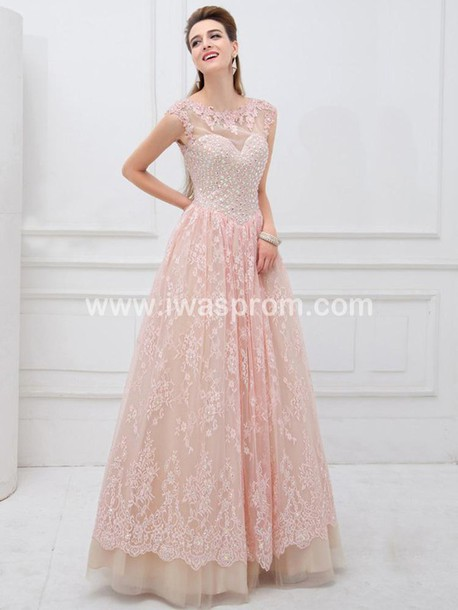 Dress: prom dress jovani prom dress pink prom dress lace prom ...