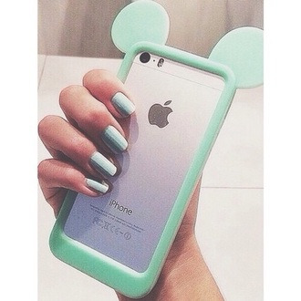 mint phone case mickey mouse