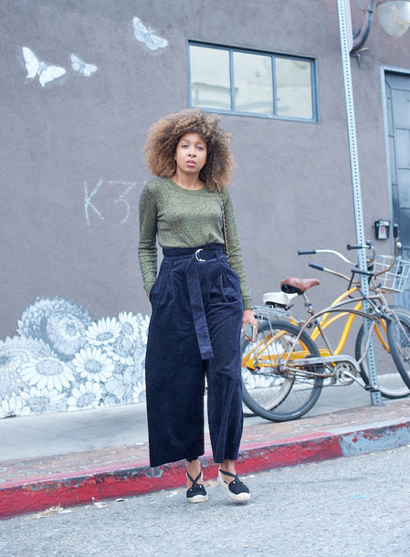 sweater tumblr green sweater pants black pants wide-leg pants cropped pants espadrilles high waisted pants