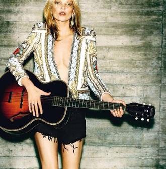 blouse kate moss model balmain celebrity style uk london 60s style