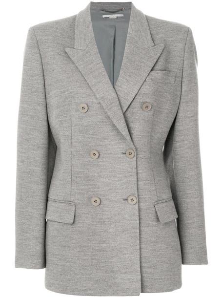 Stella McCartney jacket double breasted women cotton wool grey