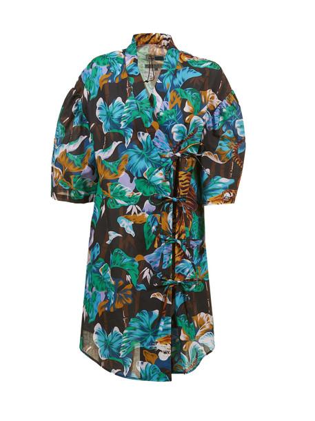Kenzo Printed Dress in nero