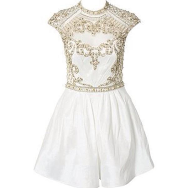 dress little white dress gold details