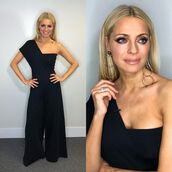 jumpsuit,stella mccartney,strictly come dancing,tess daly,black jumpsuit,asymmetrical