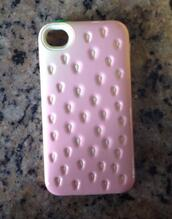jewels,strawberry,kawaii,pastel,iphone cover,iphone 5 case,iphone 4 case
