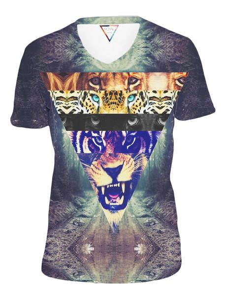 t-shirt swag tiger shirt tiger tiger face lion hipster printed sweater full print t-shirt yolo tumblr tumblr clothes