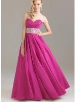 Buy Exquisite Rhinestones Sweetheart Floor Length Matte Satin Prom Dress under 200-SinoAnt.com