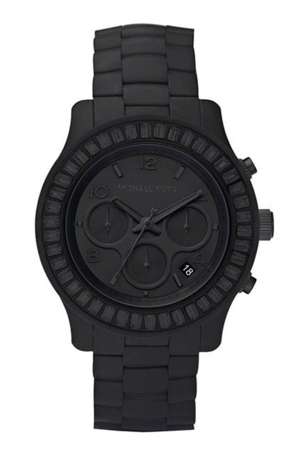 jewels micheal kors matt black kors