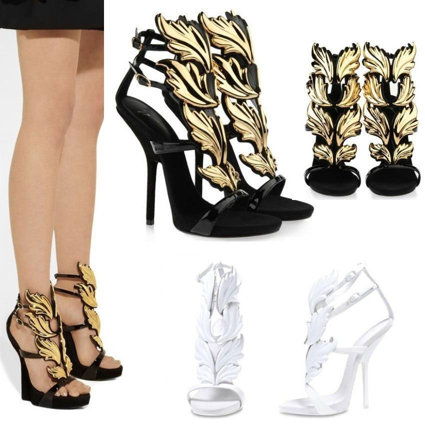 Womens Roman Gladiator High Heel Stilettos Gold Angel Wing Open Toe Sandal Pumps | eBay