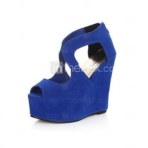 Vrouwen Wedge peep toe Fashion Boots (meer kleuren) - USD $ 14.99