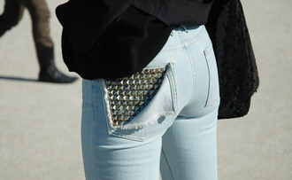 jeans studs pocket cool studded