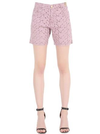 shorts denim shorts denim cotton pink
