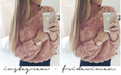 shirt,flowers,3d,top,sweater,rose pink,blouse,pink,rose,long sleeves,roses,girly,pullover,jumper,phone,chiffon,edgy,pink dress,pastel,cute,clothes,shoes,roses flowers spring,light pink,coral,pink sweater,floral top,off the shoulder sweater,jacket