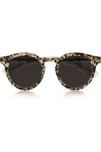 Illesteva|Leonard 2 leopard-print round-frame acetate sunglasses|NET-A-PORTER.COM