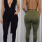 Women's sexy backless sleeveless elegant bandage jumpsuit