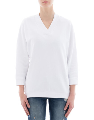 sweatshirt white cotton sweater