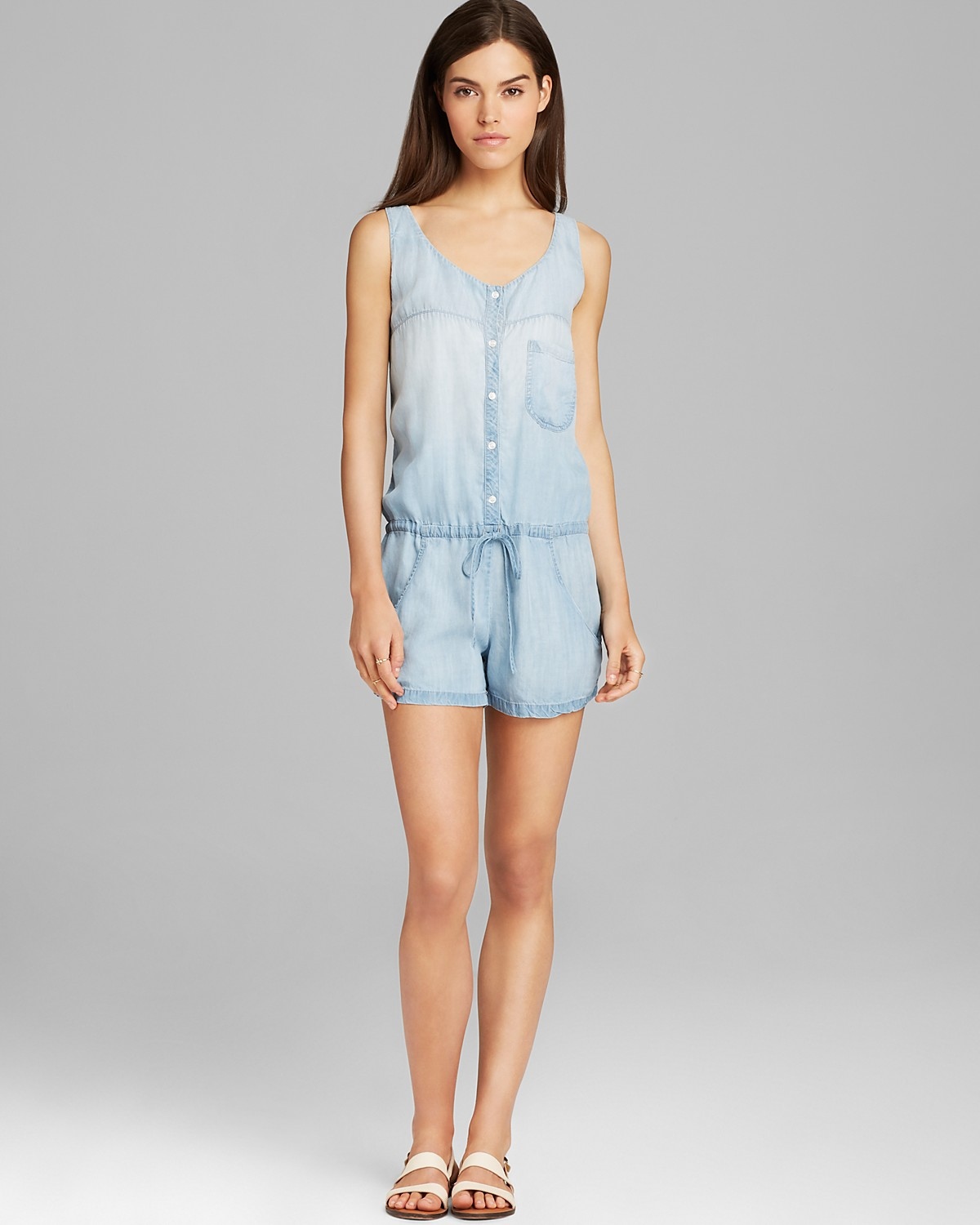 Rails Romper - Chambray | Bloomingdale's
