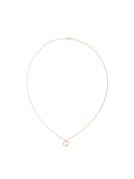 Alinka rose gold rose women necklace gold grey metallic jewels