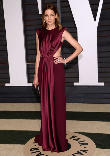 dress gown michelle monaghan oscars 2015 red carpet dress