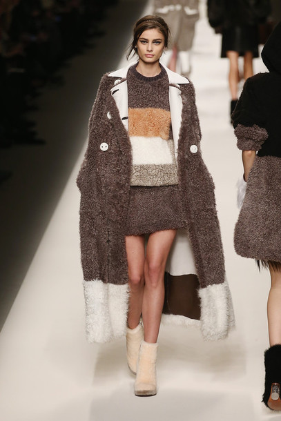 coat skirt dress sweater fashion week 2015 brown