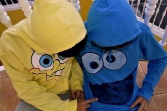 sweater cookie monster hoodie spongebob