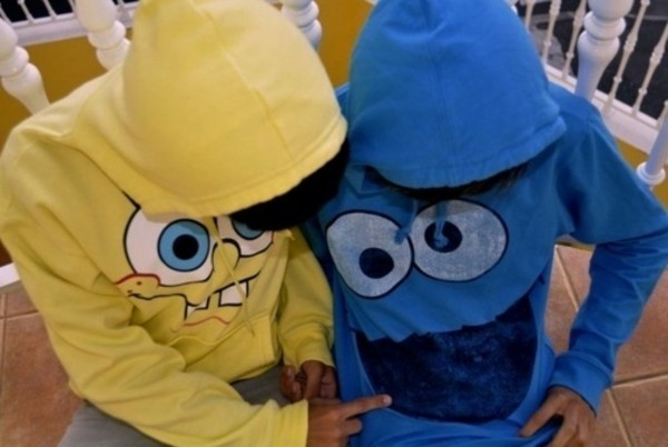 sweater cookie monster hoodie spongebob
