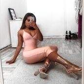 dress,long dress,pink,pink dress,silk,bodycon,bodycon dress,midi,midi dress,sexy,sexy dress,sexy party dresses,cute,cute dress,girly,girly dress,summer,summer dress,summer outfits,classy dress,cocktail dress,romantic summer dress,black girls killin it,curvy,yeezy boots