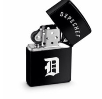 nail accessories lighter dope chef black fashion