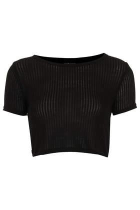 Skinny Rib Crop Tee - Crop Tops - Tops - Clothing- Topshop