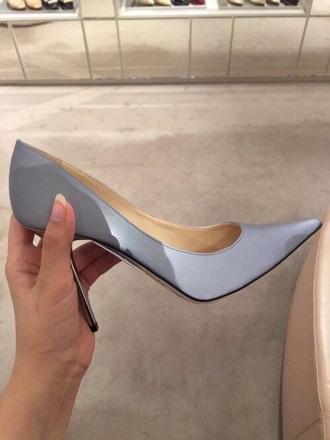 shoes periwinkle high heels