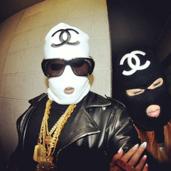 mask hat ski mask chanel swag