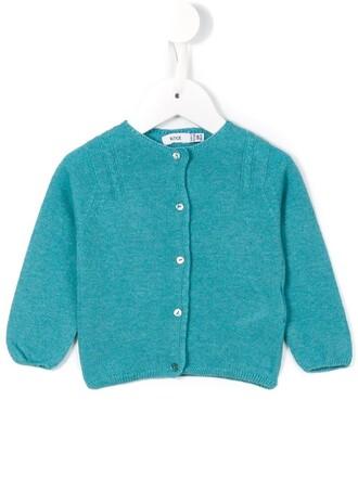 cardigan girl knit blue sweater