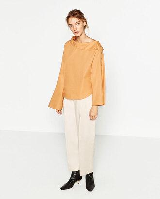 shirt yellow zara