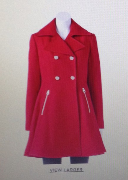 coat red coat jacket vest
