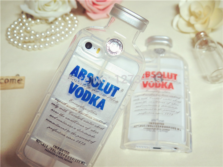Free Shipping New 2014 Luxury absolute Vodka alcohol Bottle Transparent TPU Case For Iphone 5 5s 5g 3D Clear Silicone Cover-in Phone Bags & Cases from Electronics on Aliexpress.com | Alibaba Group