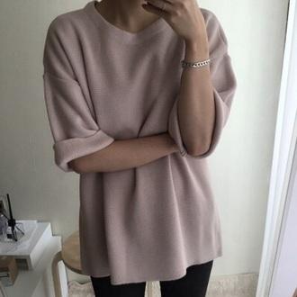 sweater rose pastel sweater