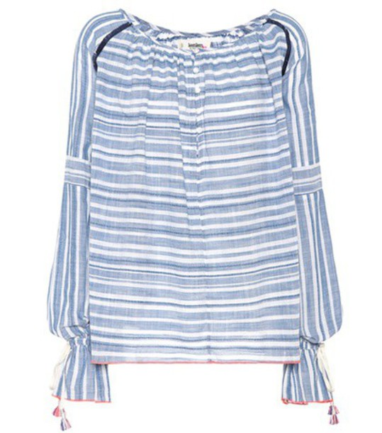 LemLem blouse cotton blue top