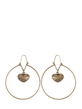 heart earrings pendant gold jewels