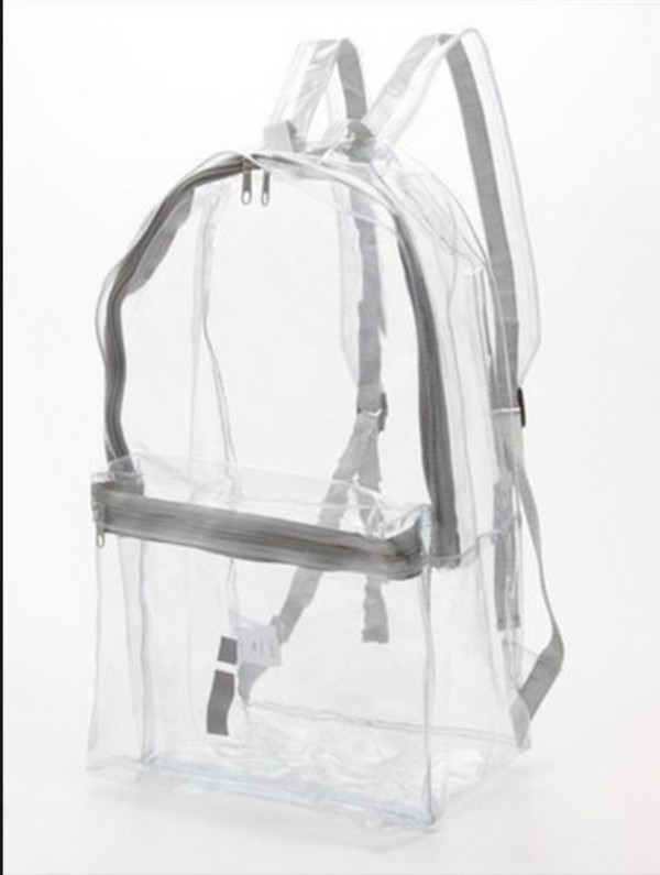 Amazon.com: Clear Backpack with Smooth Plastic Completely ...