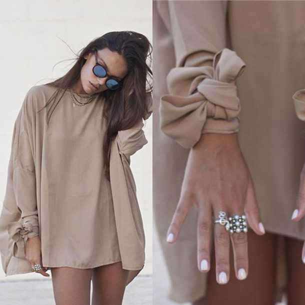 05e0a33fad8c dress beige beige dress shift dress bow bows tumblr girl tumblr girl tumblr outfit  outfit made