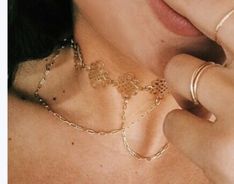 jewels choker necklace gold necklace