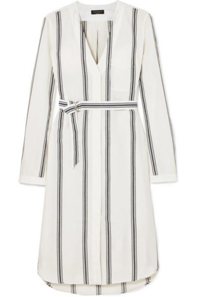 rag & bone - Alyse Striped Cotton And Linen-blend Shirt Dress - Ivory
