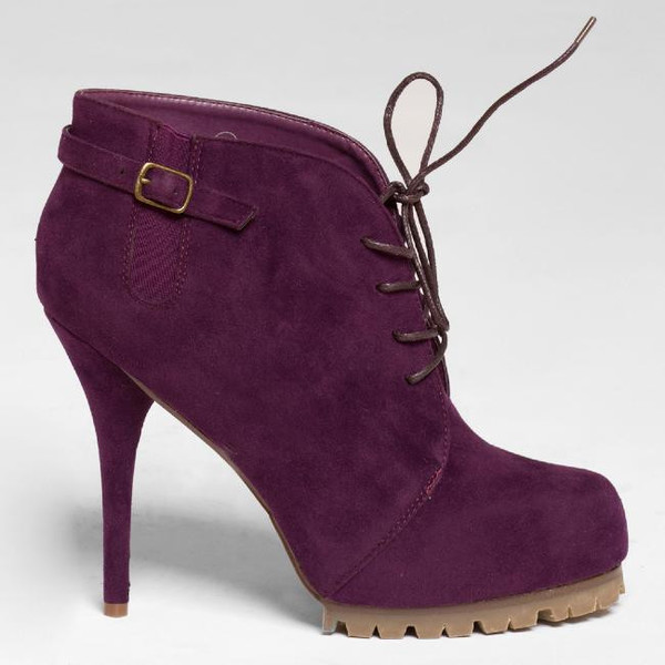 shoes booties ankle boots purple purple shoes