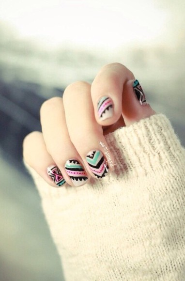 tribal pattern nail polish